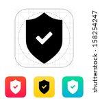 accept shield icon. vector...