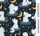 seamless pattern with animals...   Shutterstock .eps vector #1582553521