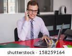 young businessman working in... | Shutterstock . vector #158259164