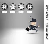 stress business man racing... | Shutterstock .eps vector #158259335