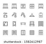 locker room flat line icons set....   Shutterstock .eps vector #1582612987