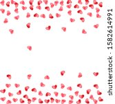 Heart Confetti Falling On White ...