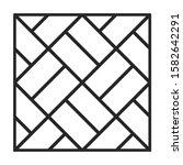 parquet floor vector icon.line... | Shutterstock .eps vector #1582642291