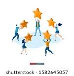 trendy flat illustration.... | Shutterstock .eps vector #1582645057