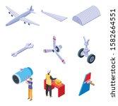 Aircraft Repair Icons Set....