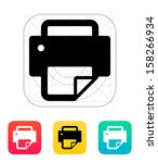 printer with document icon.... | Shutterstock .eps vector #158266934
