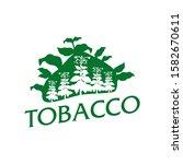 vector logo for natural tobacco ...   Shutterstock .eps vector #1582670611