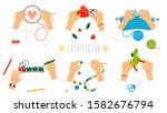 creative hands. workshop ... | Shutterstock .eps vector #1582676794