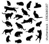 set vector silhouettes of the... | Shutterstock .eps vector #1582680187