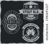 vintage label designs with... | Shutterstock .eps vector #1582691227