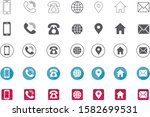 5 style contact information... | Shutterstock .eps vector #1582699531