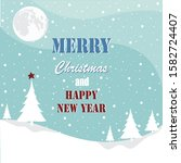 merry christmas greeting card.... | Shutterstock .eps vector #1582724407