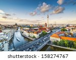 berlin  germany viewed from... | Shutterstock . vector #158274767