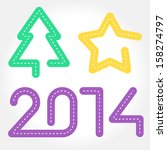 christmas icons for driving... | Shutterstock .eps vector #158274797