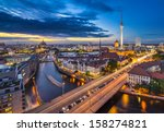 Stock photo berlin germany viewed from above the spree river 158274821