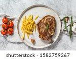 Grilled Pork Steak On Bone With ...