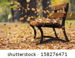 Bench In Autumn Park