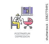 postpartum depression color... | Shutterstock .eps vector #1582775491