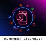 ab testing line icon. neon...