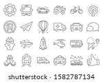 transport line icons. taxi ... | Shutterstock .eps vector #1582787134