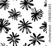 brush flower vector seamless... | Shutterstock .eps vector #1582821601
