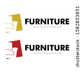 home furniture logo couch logo... | Shutterstock .eps vector #1582853851