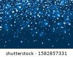 falling stars on blue... | Shutterstock .eps vector #1582857331