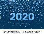 2020 happy new year. blue... | Shutterstock .eps vector #1582857334