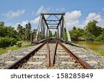 railway bridge in sri lanka | Shutterstock . vector #158285849