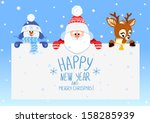 congratulation with christmas... | Shutterstock .eps vector #158285939