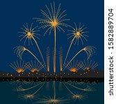 firework silhouette of firework ... | Shutterstock .eps vector #1582889704