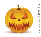 halloween pumpkin isolated on... | Shutterstock .eps vector #158291114