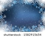 winter background with... | Shutterstock .eps vector #1582915654