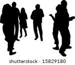 people dancing in disco... | Shutterstock . vector #15829180