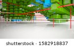 abstract white interior from... | Shutterstock . vector #1582918837