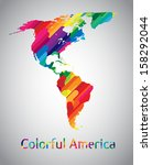 colorful vector america | Shutterstock .eps vector #158292044