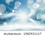 winter background with snow and ... | Shutterstock .eps vector #1582921117