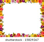 colorful floral frame with... | Shutterstock . vector #15829267