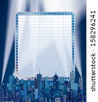vector blank blue billboard... | Shutterstock .eps vector #158296241