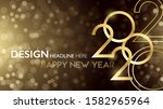 happy new year 2020  background.... | Shutterstock .eps vector #1582965964