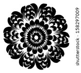 hand drawn  ornamental  black... | Shutterstock .eps vector #158297009