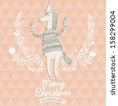 merry christmas card with 2014... | Shutterstock .eps vector #158299004