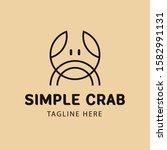 simple crab monoline minimalist ... | Shutterstock .eps vector #1582991131