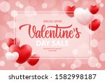 valentine's day sale special... | Shutterstock .eps vector #1582998187
