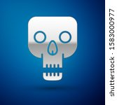 silver skull icon isolated on... | Shutterstock .eps vector #1583000977