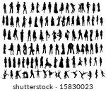 girls silhouettes | Shutterstock .eps vector #15830023
