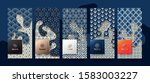 vector set packaging templates... | Shutterstock .eps vector #1583003227