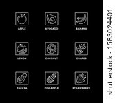 vector set of design elements ... | Shutterstock .eps vector #1583024401