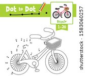 dot to dot educational game and ... | Shutterstock .eps vector #1583060257