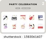 party celebration flat  icons...